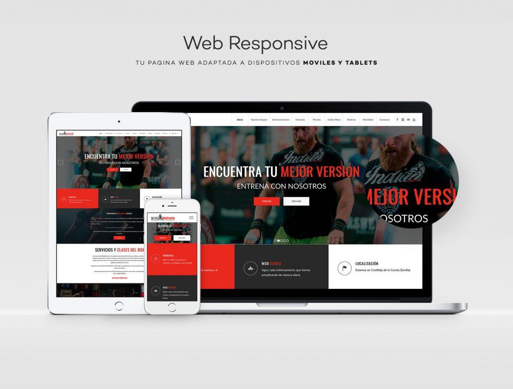diseño web crossfit